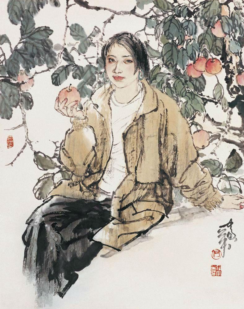 文化 正文  何家英为工笔人物画当代性的转型做出了贡献.