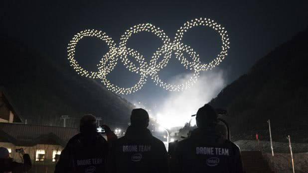 英特尔无人机灯光秀在平昌冬奥会上打破吉尼斯世界纪录
