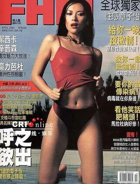 章子怡拍完《藏龙卧虎》后拍的香港版封面,据说此期一上市,被一抢而空。