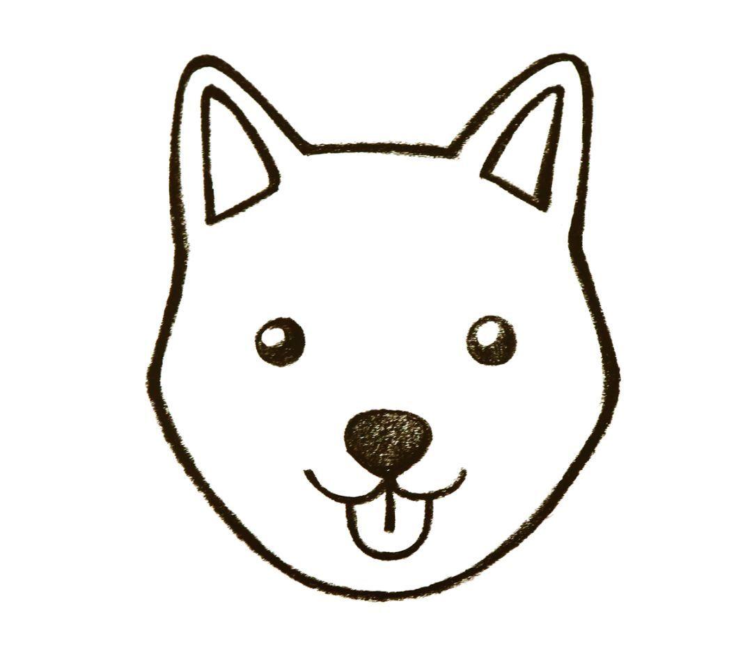 先画小狗两边的耳朵,再用稍微拱形曲线将两只耳朵连接起来.图片