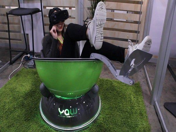 紧凑型运动模拟器Yaw VR达到Kickstarter众筹目标