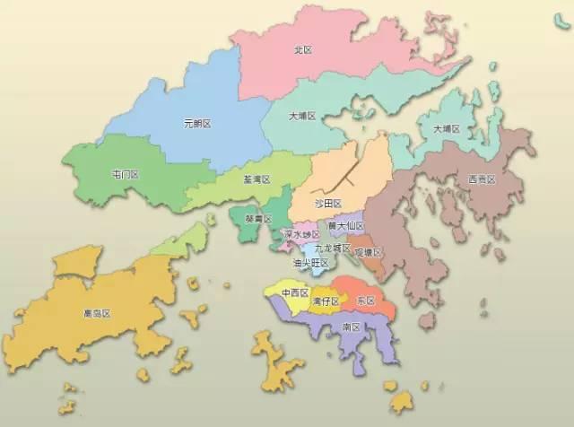 △ 香港行政区划地图图片