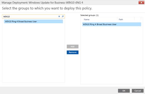 使用Intune管理Windows10更新