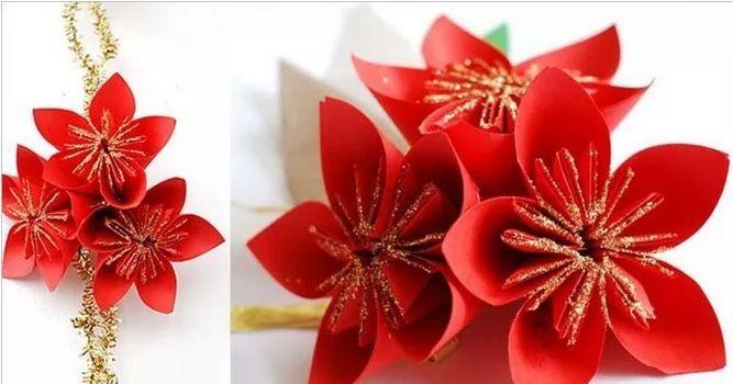 【小天使亲子团】亲子手工 | 手工立体「春」字剪纸,及新年纸花折纸