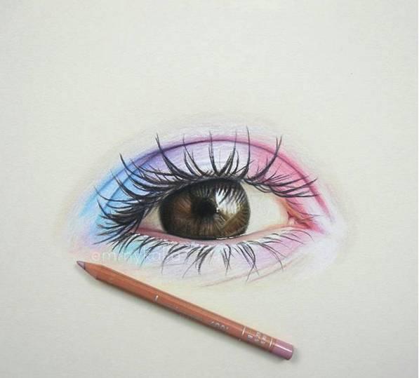 时尚 正文  接下来 关于眼睛的绘画技法 过程步骤如下图: 头发技法图片