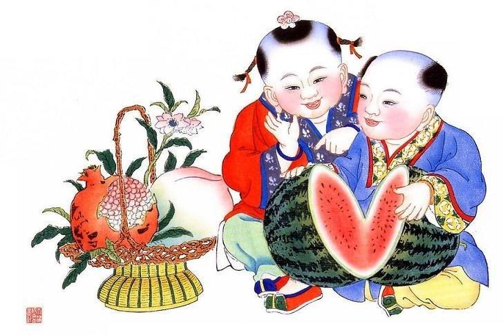 【中国古老的民间传统年画欣赏】