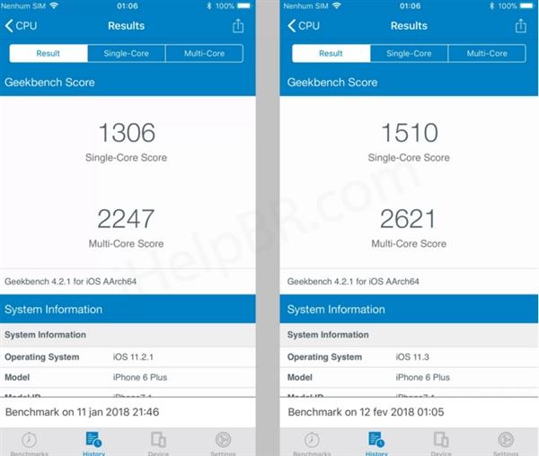 苹果iPhone 6 Plus升级iOS 11.3实测