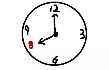 简笔画 时钟 手绘 线稿 钟表 364_234