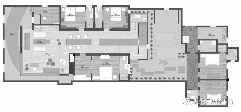 客栈房间的平面图