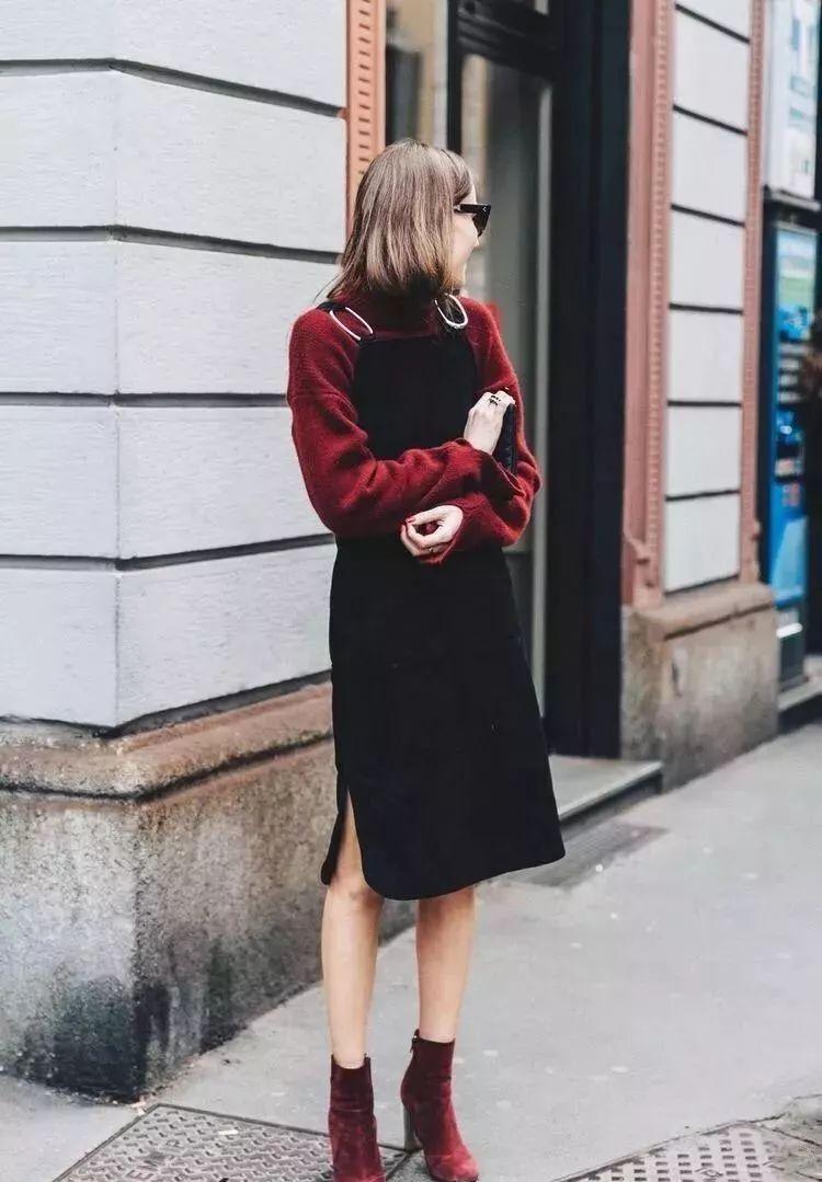 过年当然要穿新年红,这样搭配让你穿得洋气又高级图片