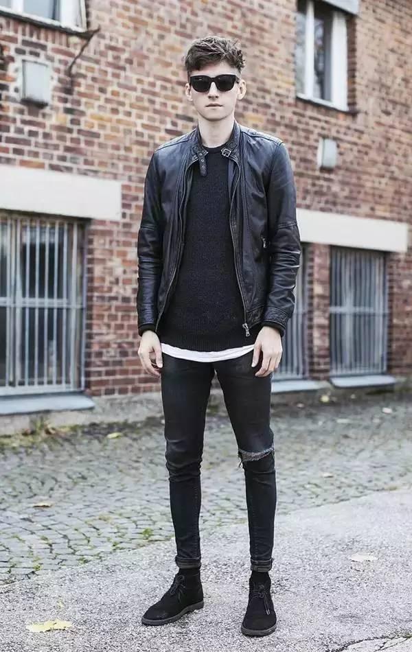 撑不起衣服,太瘦的男生就该这么穿图片