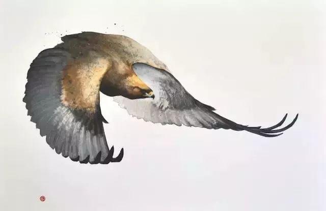 美国艺术家Karl Mrtens笔下融合东西方韵味的水彩画 - 花鸟