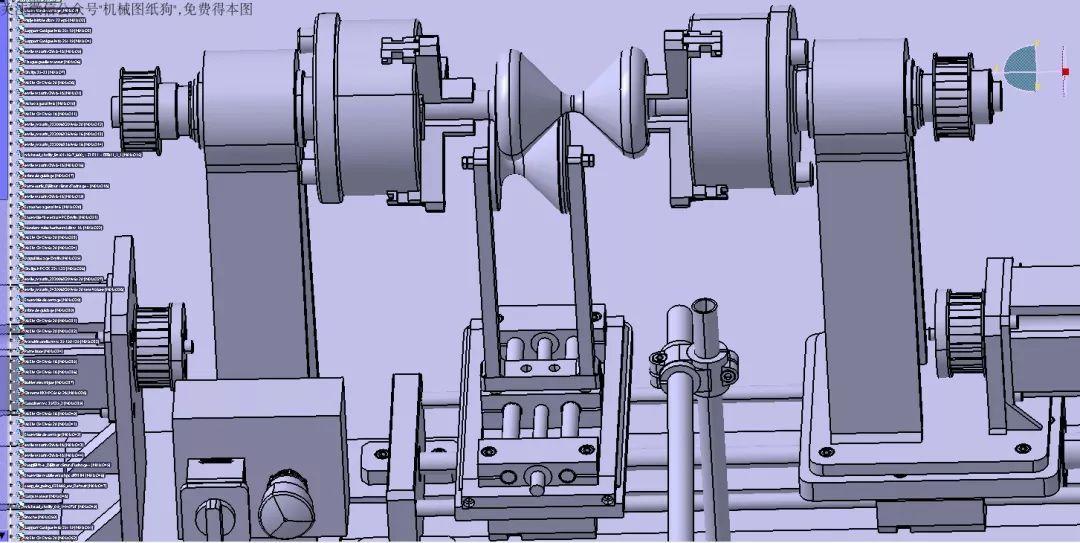 【工程机械】数控沙漏车床3d模型图纸 step格式