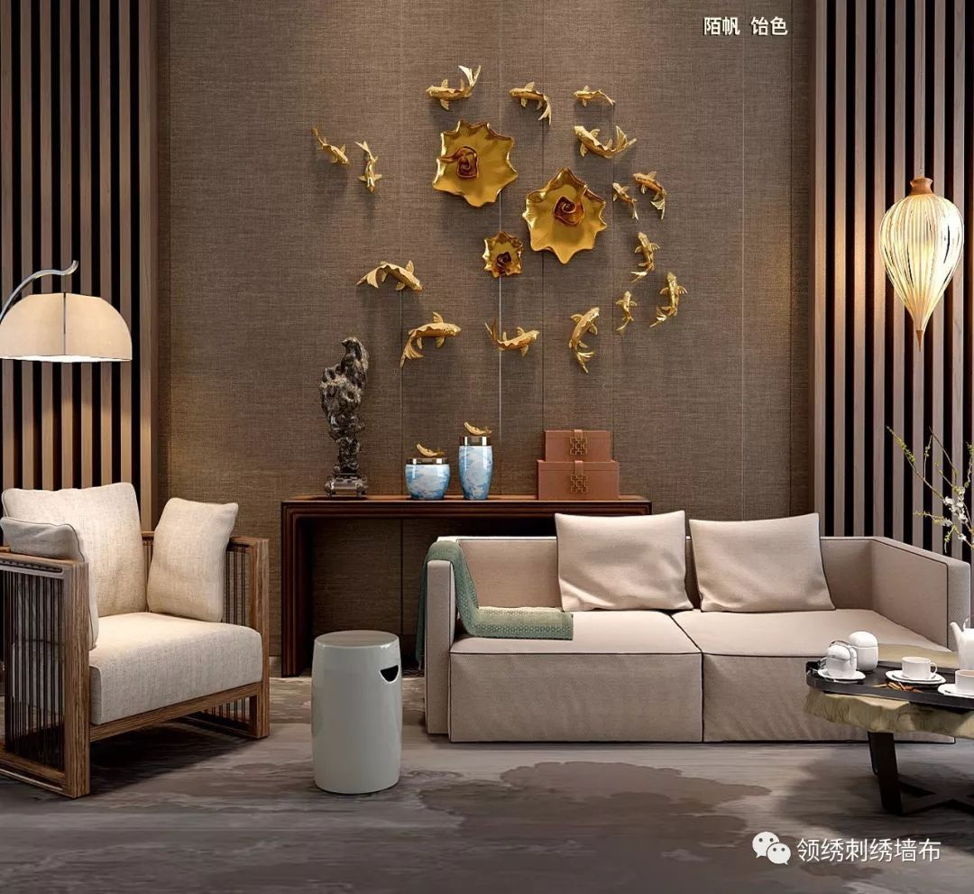 90平日式风 木线条 青竹屏风 草编窗帘 素色亚麻墙布 