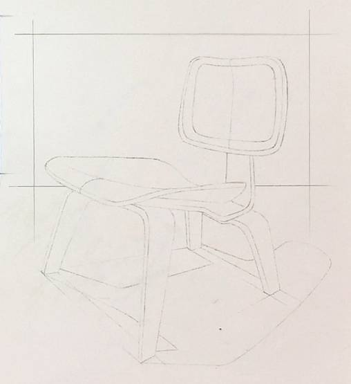 凳子平面图简易画法