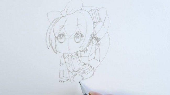 【小教程】超可爱的q版初音动漫手绘.马克笔上色