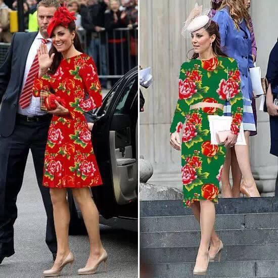 英国女王一家穿上东北大花棉袄,果断变成英国一家亲