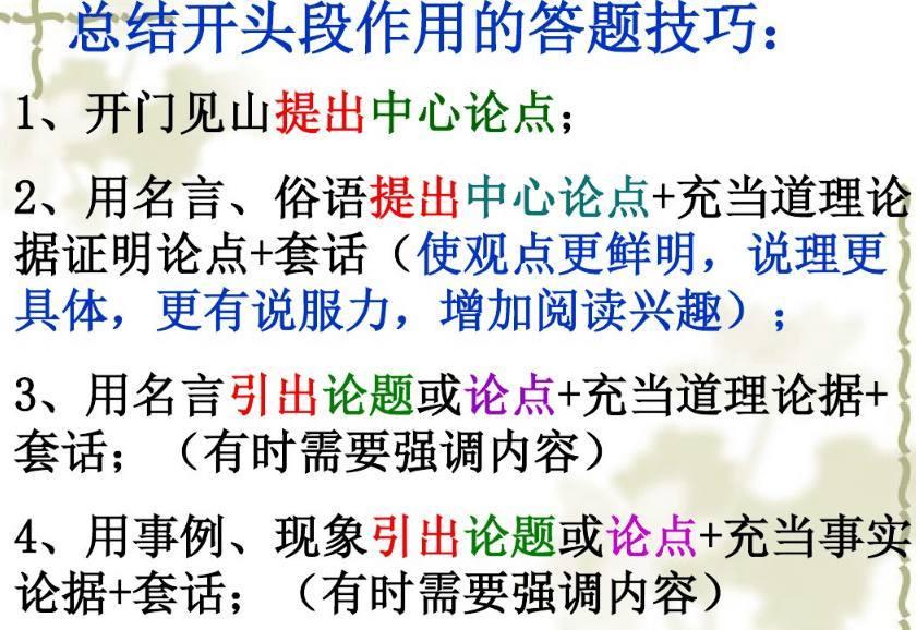 中考语文,议论文阅读常考的七种核心题型及解答思路 2