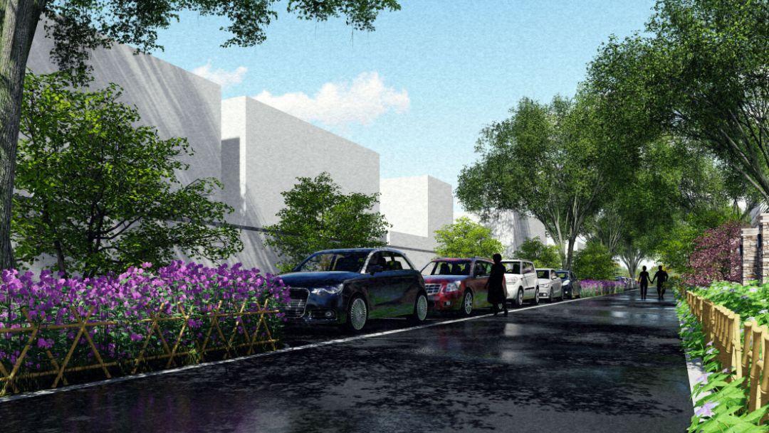 """2专项v专项3一环五点贯穿村内主要交通流线""""一环""""通过五个节点大学广州有室内设计的景观"""
