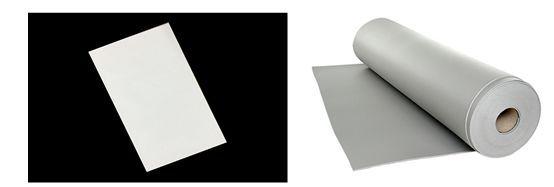 左:动力电池隔热用气凝胶片、右:动力电池专用隔热泡棉