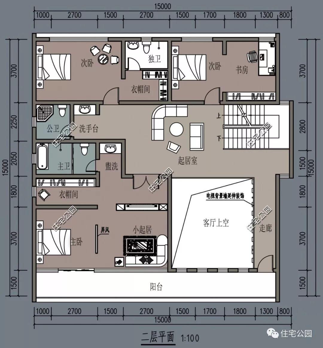 04㎡ 建筑面积:328㎡ 户型描述:共设6室 3厅 5卫 3书房 2阳台 1露台图片