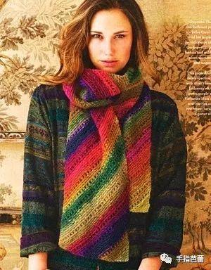 用段染线编织的服饰