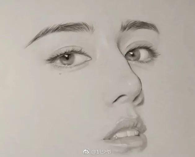 六大女明星的手绘头像杨幂最好认 最后一张好多人没认