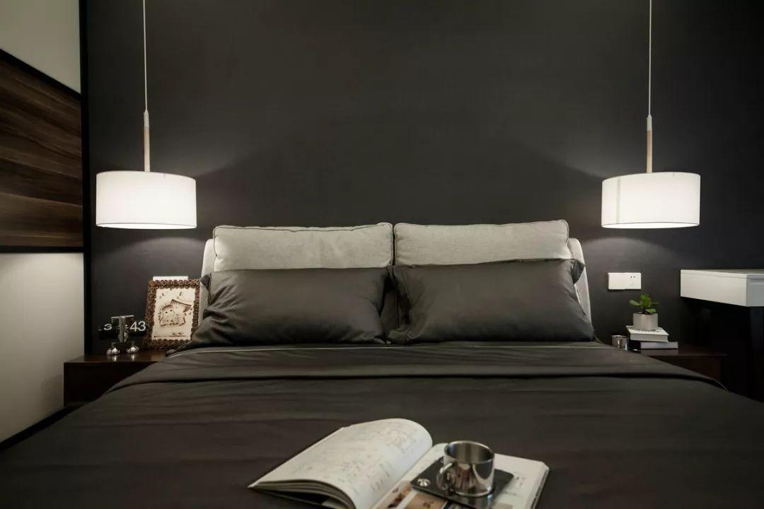 142㎡现代港式,餐厅与卧室的背景墙,简单却不一样!图片