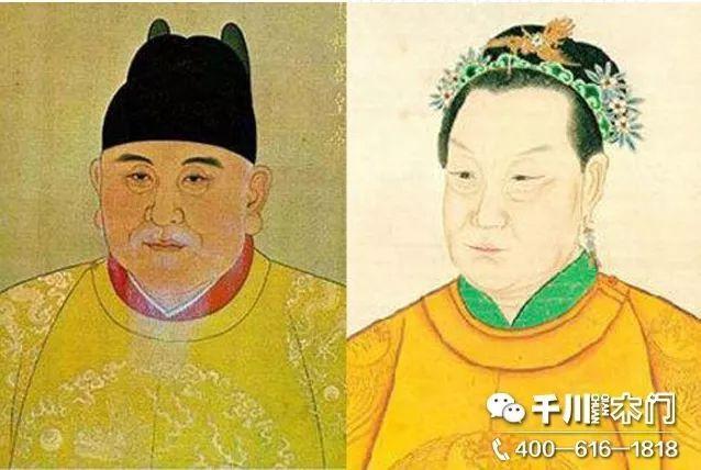 朱元璋与马皇后画像图片