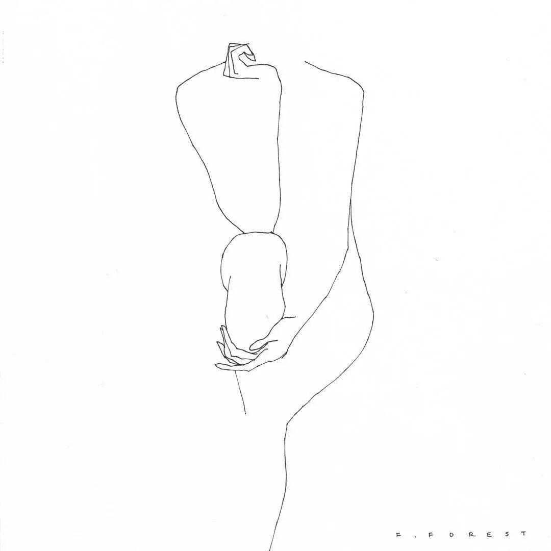 法国大叔撩人简笔画,很性感但不色情