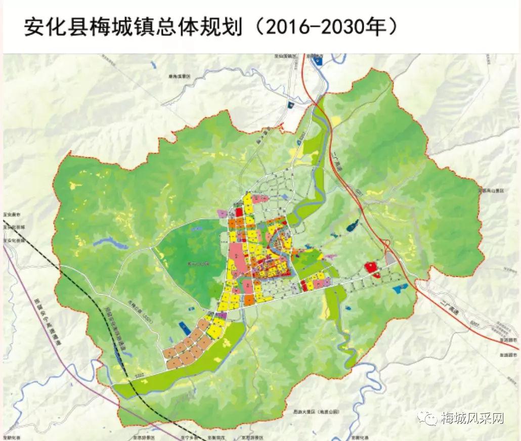十多个亿元项目落地安化县梅城镇 逐步从镇向城发展图片