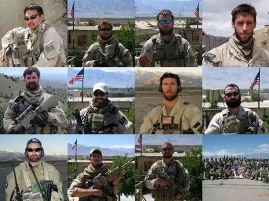 阵亡的部分海豹突击队员