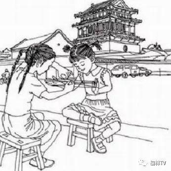 游戏 正文  中国传统民间儿童游戏,最少三人以上,两人分别人站在场地图片