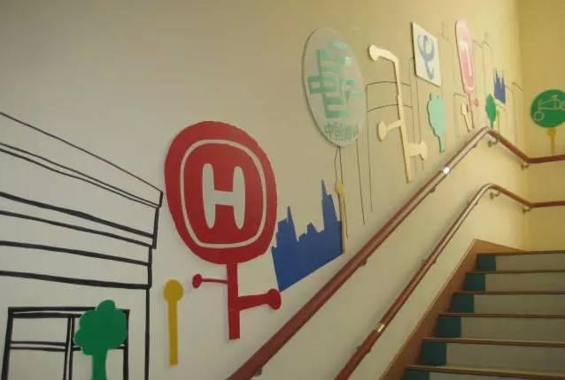 幼儿园楼梯墙面画手绘图片大全