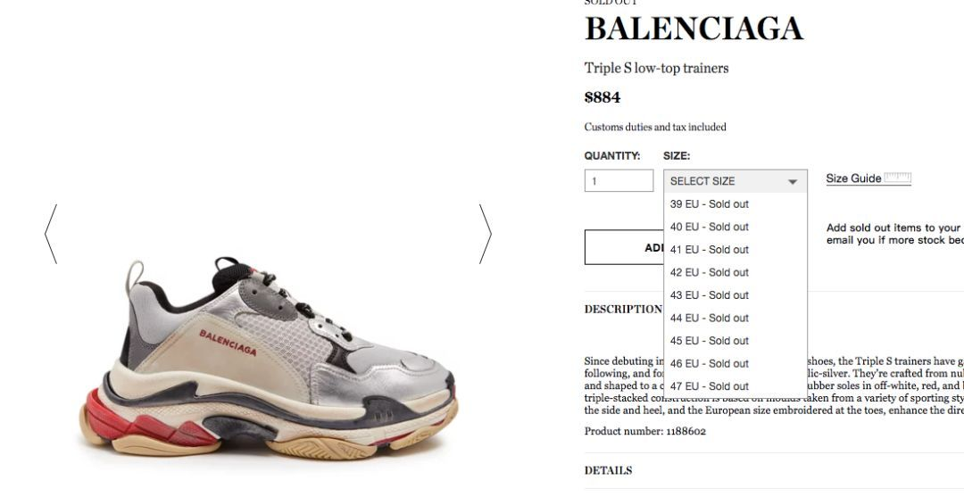 Balenciaga Triple S from AliExpress on 21 Buttons