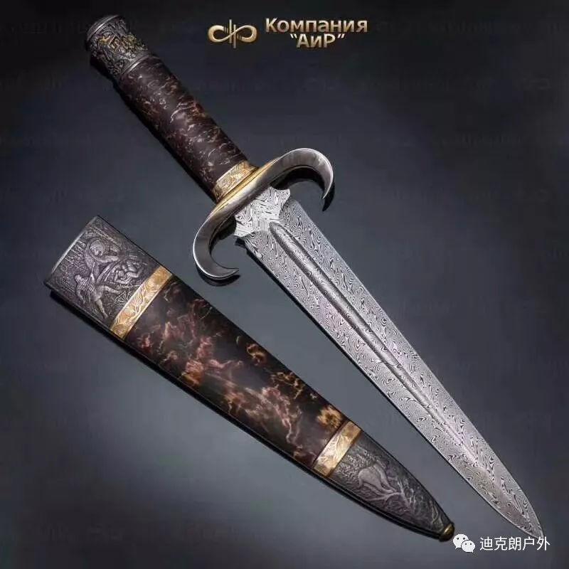 俄罗斯森林大马士革剑华丽沙皇风现代刀界代表.古典