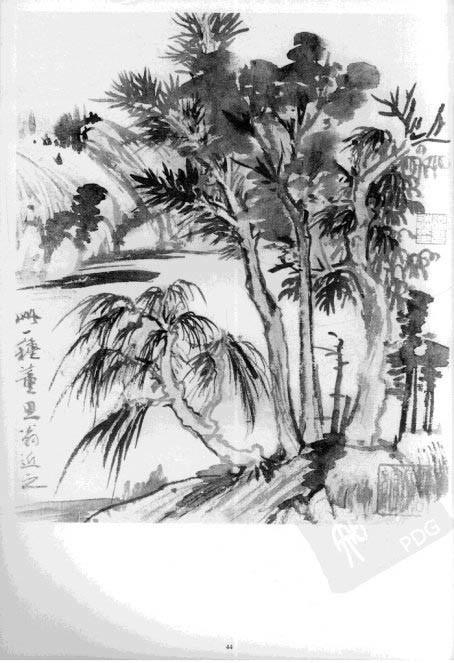 桃树的画法 柳树的画法
