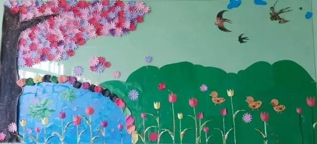 环创欣赏  幼儿园用这20款春天主题墙,小孩子都比别的
