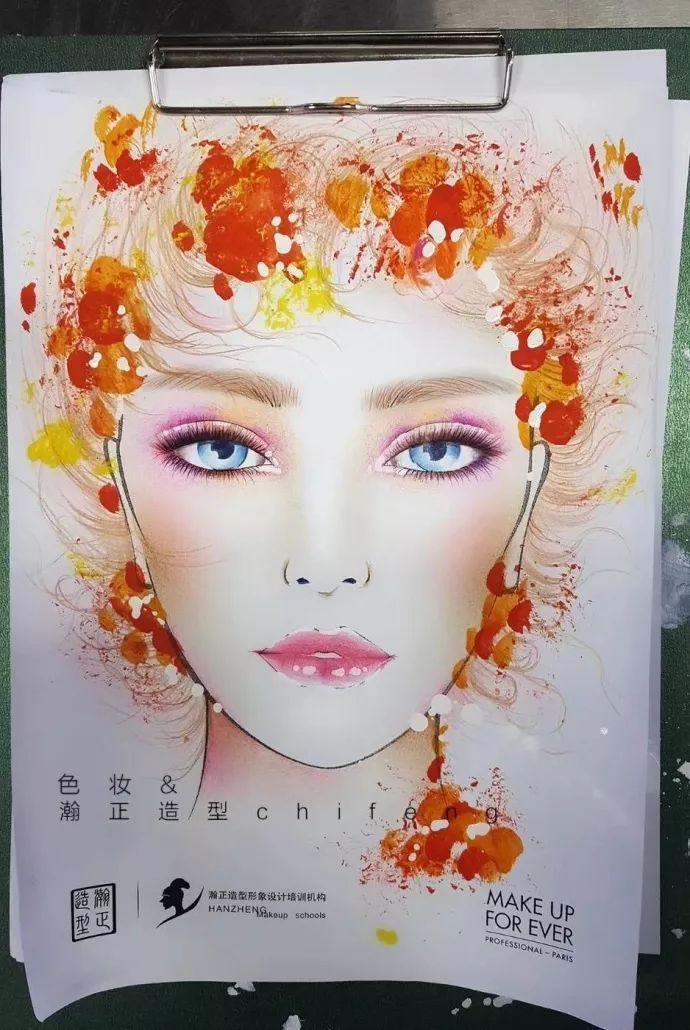 最美不过这一组色妆手绘妆面效果图!