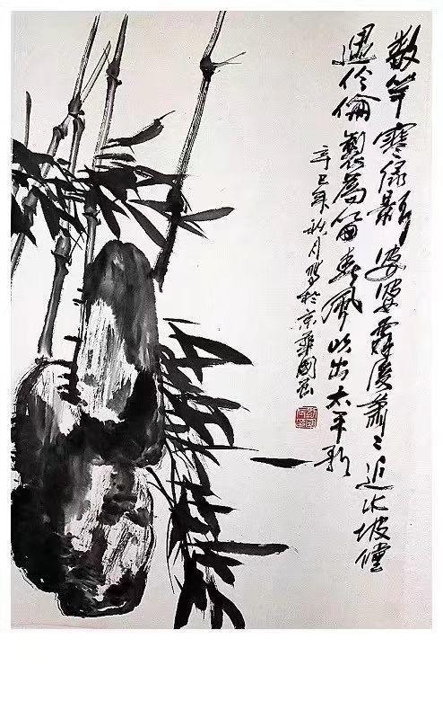 《松鹰图》当代著名花鸟画家刘国辰国画作品图片