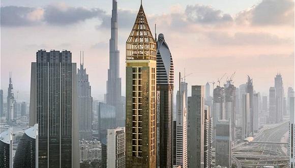 迪拜刷新自己的纪录,全新世界最高酒店仅比原来的高1米