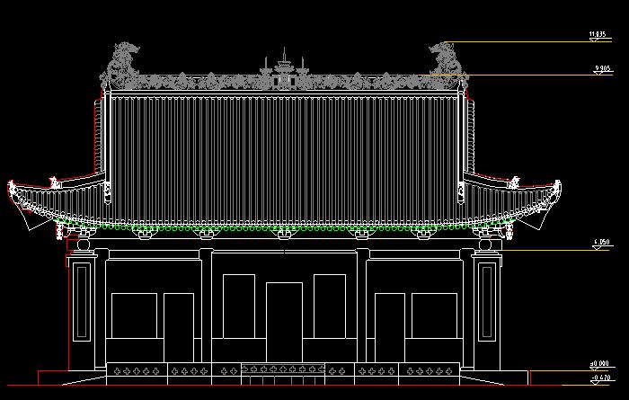 中国古建筑设计,这些古建筑cad图纸你都认识吗?