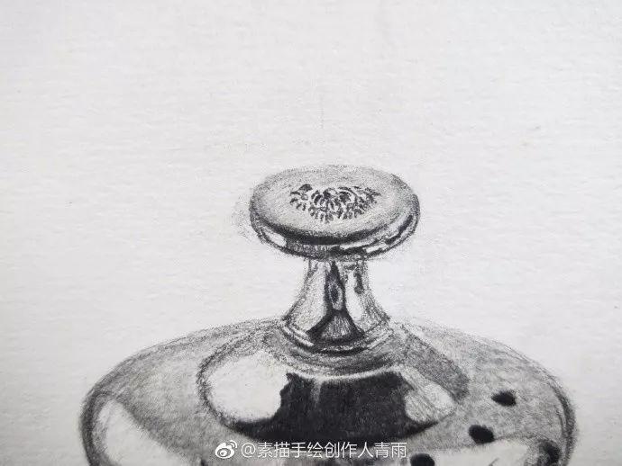 素描步骤临摹 不锈钢水壶图片