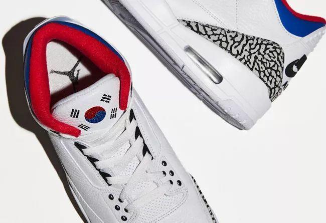奥运会主题为灵感!思密达专属配色 Air Jordan 3 细节曝光