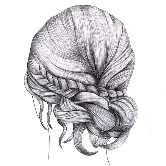 让你分分种秒变女神 其实画头发最重要的是分组 根据光源 分出黑白灰