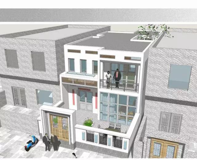 8X23米,小面宽别墅深的现代长进风格v别墅,长明广告设计图片