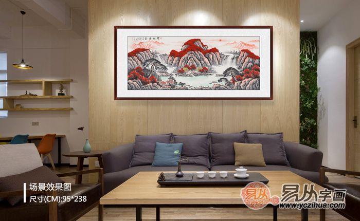 家居装饰画搭配设计,看看山水画展现的中国美
