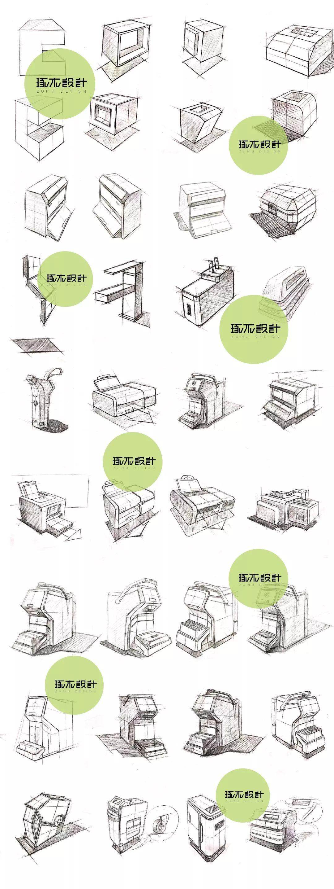 琢木设计-工业设计手绘基础训练方法与步骤-杭州