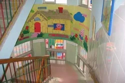 幼儿园楼梯布置图片 卡通房子图片