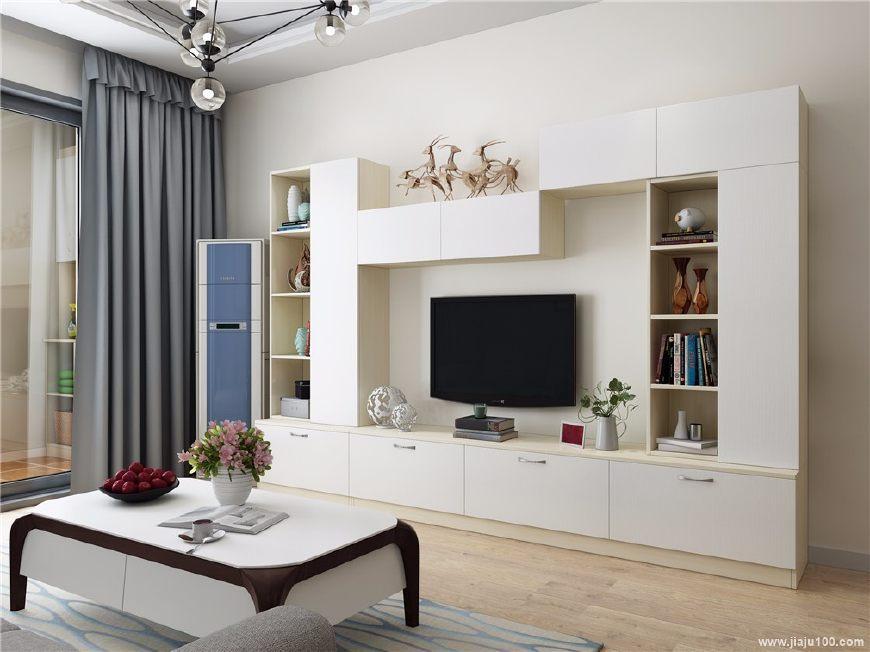 简单素雅的背景图片_2018流行的5款客厅电视装修效果图,来看看有没有你家的?
